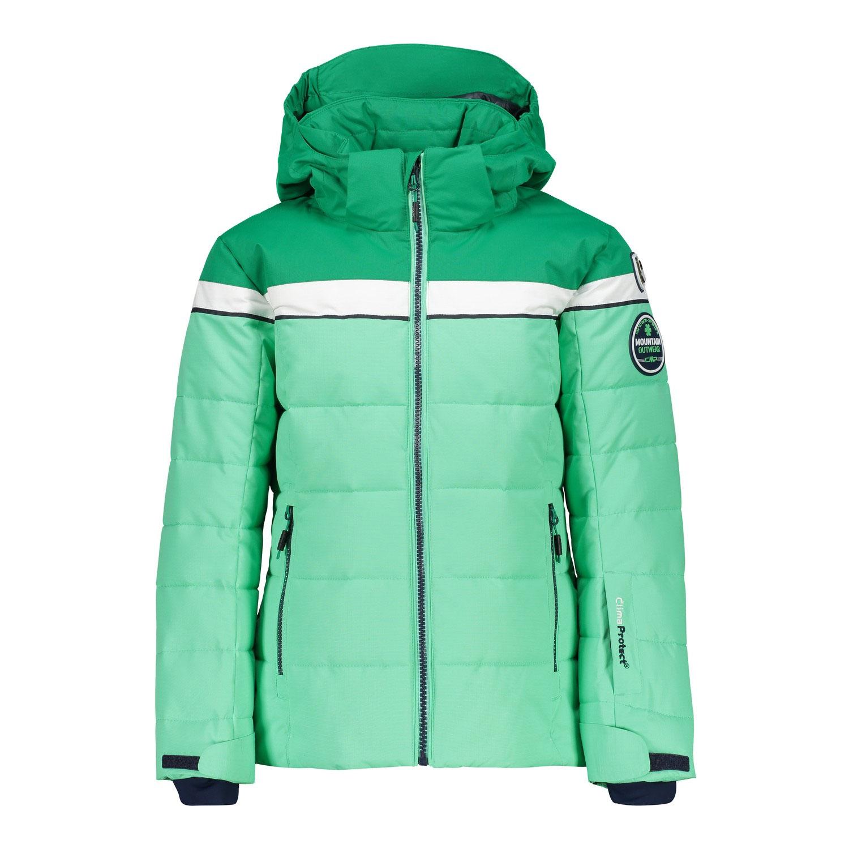 Campagnolo Girls Ski Jacke Snaps Hood Skijacke grün 38W0465 E303