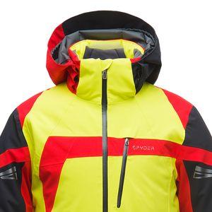 Spyder Titan Jacket Herren Skijacke gelb schwarz rot 181720 725 – Bild 3