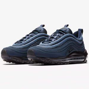 Nike Air Max 97 (GS) Sneaker blau schwarz 921522 403 – Bild 3