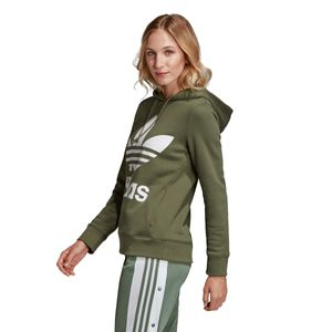 adidas Originals Trefoil Hoodie Damen base green DH3139 – Bild 3