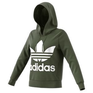adidas Originals Trefoil Hoodie Damen base green DH3139 – Bild 6