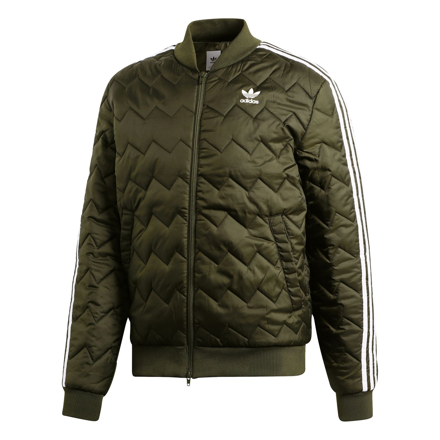 adidas Originals SST Quilted Jacket Herren Steppjacke olive DL8697