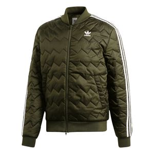 adidas Originals SST Quilted Jacket Herren Steppjacke olive DL8697 – Bild 1