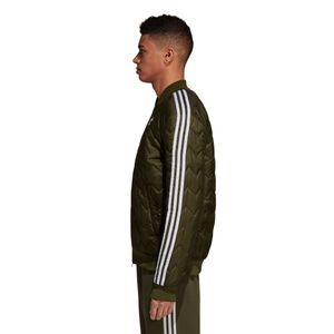 adidas Originals SST Quilted Jacket Herren Steppjacke olive DL8697 – Bild 3