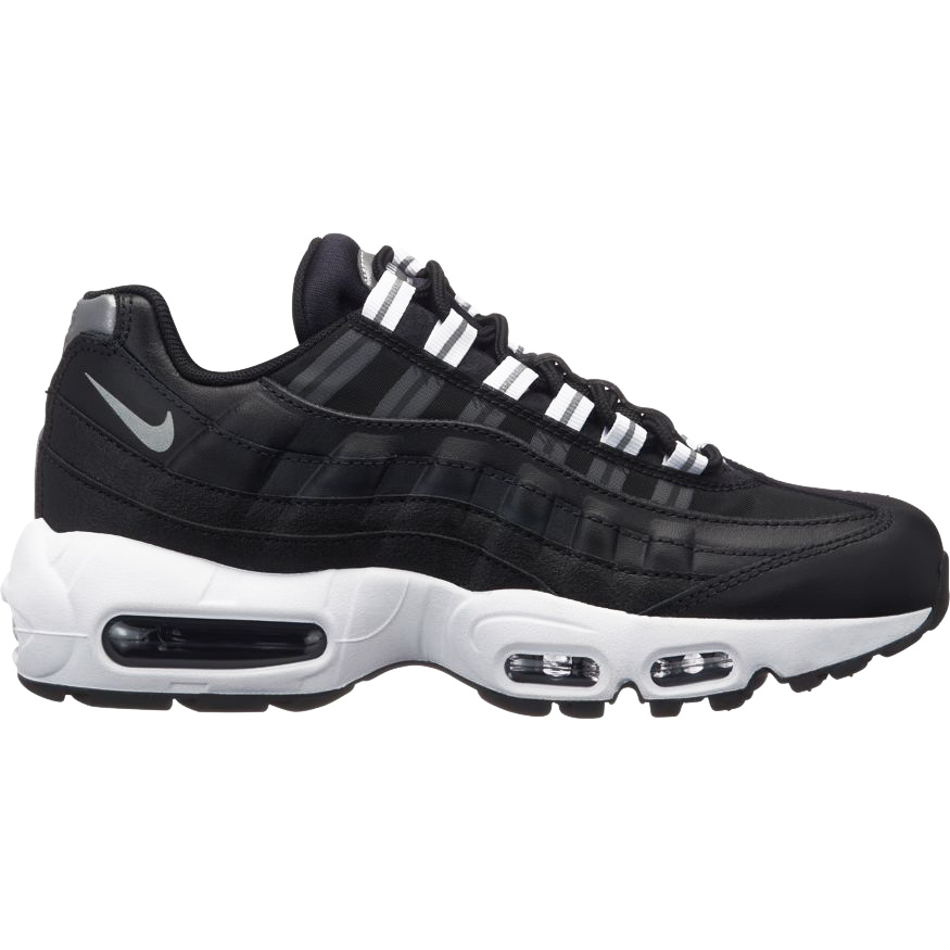more photos 8292b b41c9 Nike WMNS Air Max 95 Damen Sneaker schwarz weiß 307960 020