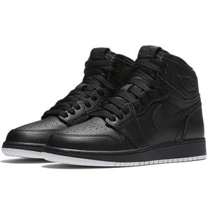 Air Jordan 1 Retro High OG BG Kinder schwarz 575441 002 – Bild 2