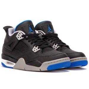 Air Jordan 4 Retro BG Kinder Sneaker schwarz grau blau 408452 006 – Bild 2