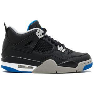 Air Jordan 4 Retro BG Sneaker schwarz grau blau – Bild 1