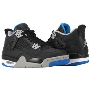 Air Jordan 4 Retro BG Sneaker schwarz grau blau – Bild 4
