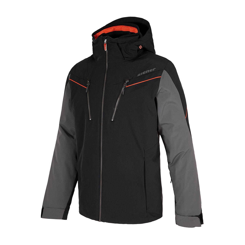 Ziener Tilton Herren Ski Snowboardjacke schwarz grau orange 184201 12