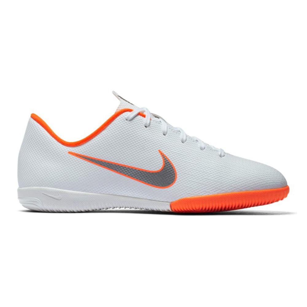 Nike JR Vapor X 12 Academy GS IC Hallenschuhe weiß orange AJ3101 107
