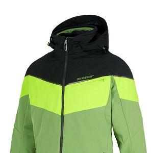 Ziener Takosh Herren Ski Snowboardjacke grün schwarz 184202 96 – Bild 3
