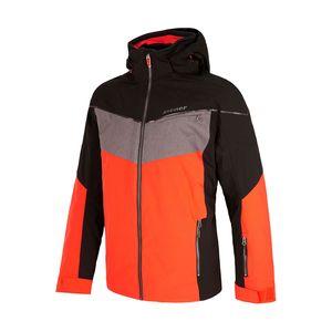 Ziener Takosh Herren Ski Snowboardjacke orange schwarz grau 184202 860 – Bild 1