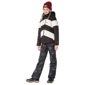 Protest Celeste JR Kinder Ski- Snowboardjacke schwarz weiß 6911382 290 – Bild 3
