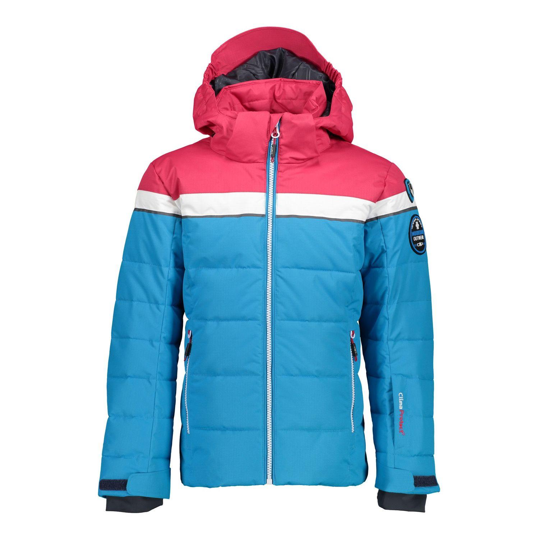 Campagnolo Girls Jacke Snaps Hood Skijacke blau pink 38W0465 M713