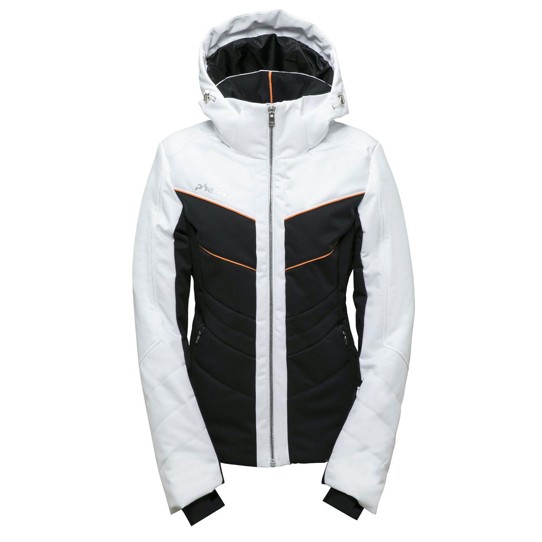 Phenix Furano Jacket Damen Skijacke schwarz weiß ES882OT65 BKWT