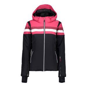 Campagnolo Damen Jacke Zip Hood Skijacke schwarz rot weiß 38W0806 U901 – Bild 1