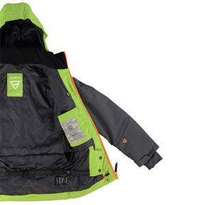 Brunotti Kentucky JR Boys Jacket Kinder Skijacke grün grau  – Bild 3