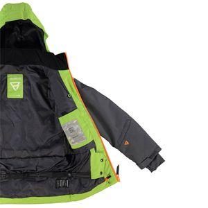 Brunotti Kentucky JR Boys Jacket Kinder Skijacke grün grau  – Bild 3