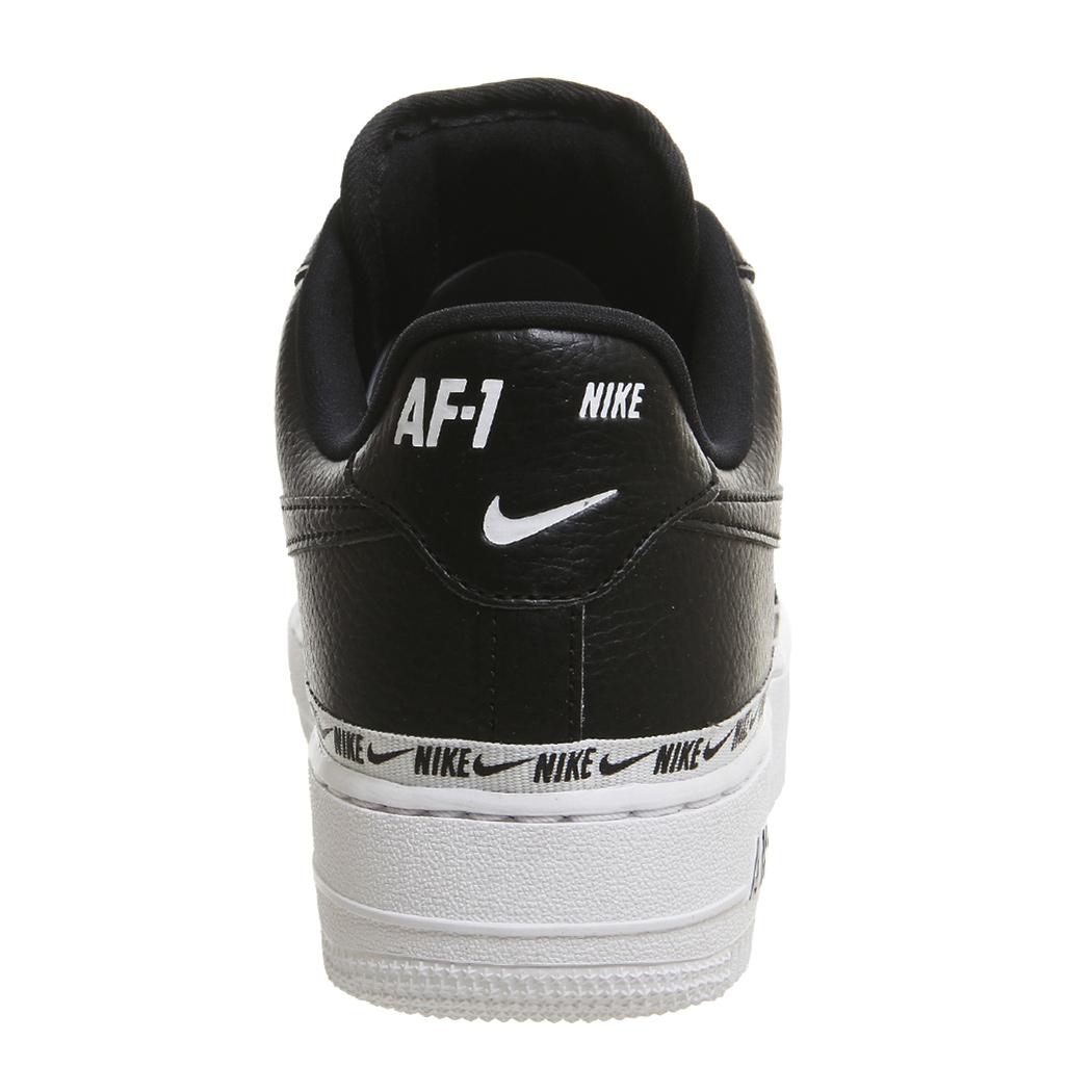 low priced c8ba8 b0ccf Nike W Air Force 1 07 SE PRM Damen Sneaker schwarz weiß AH6827 002 –
