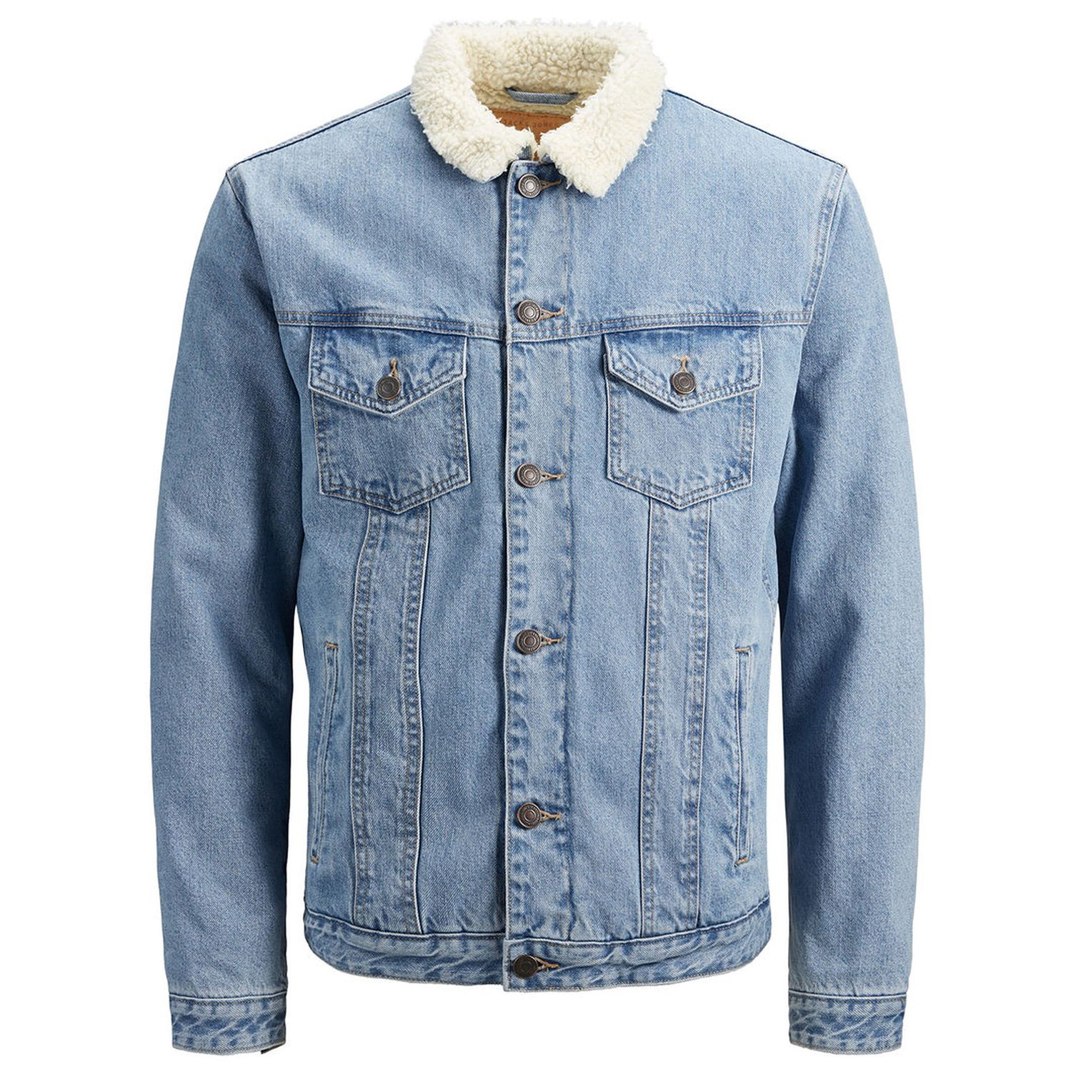 Jack Amp Jones Jeans Jacket Jeansjacke Herrenjacke Mit Fell