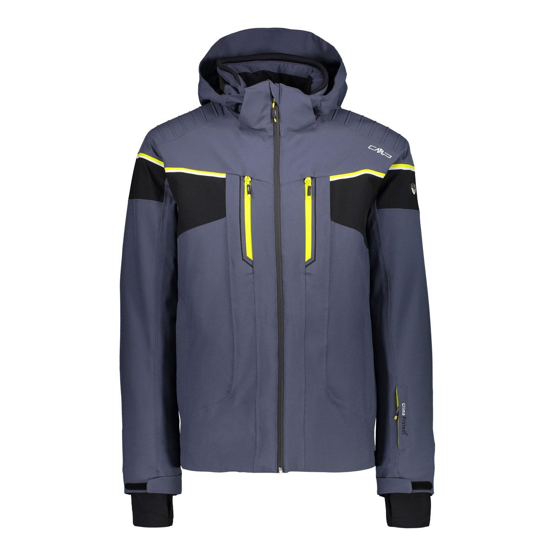 Campagnolo Man Jacket Zip Hood Herren Skijacke grau blau 38W0507 U883
