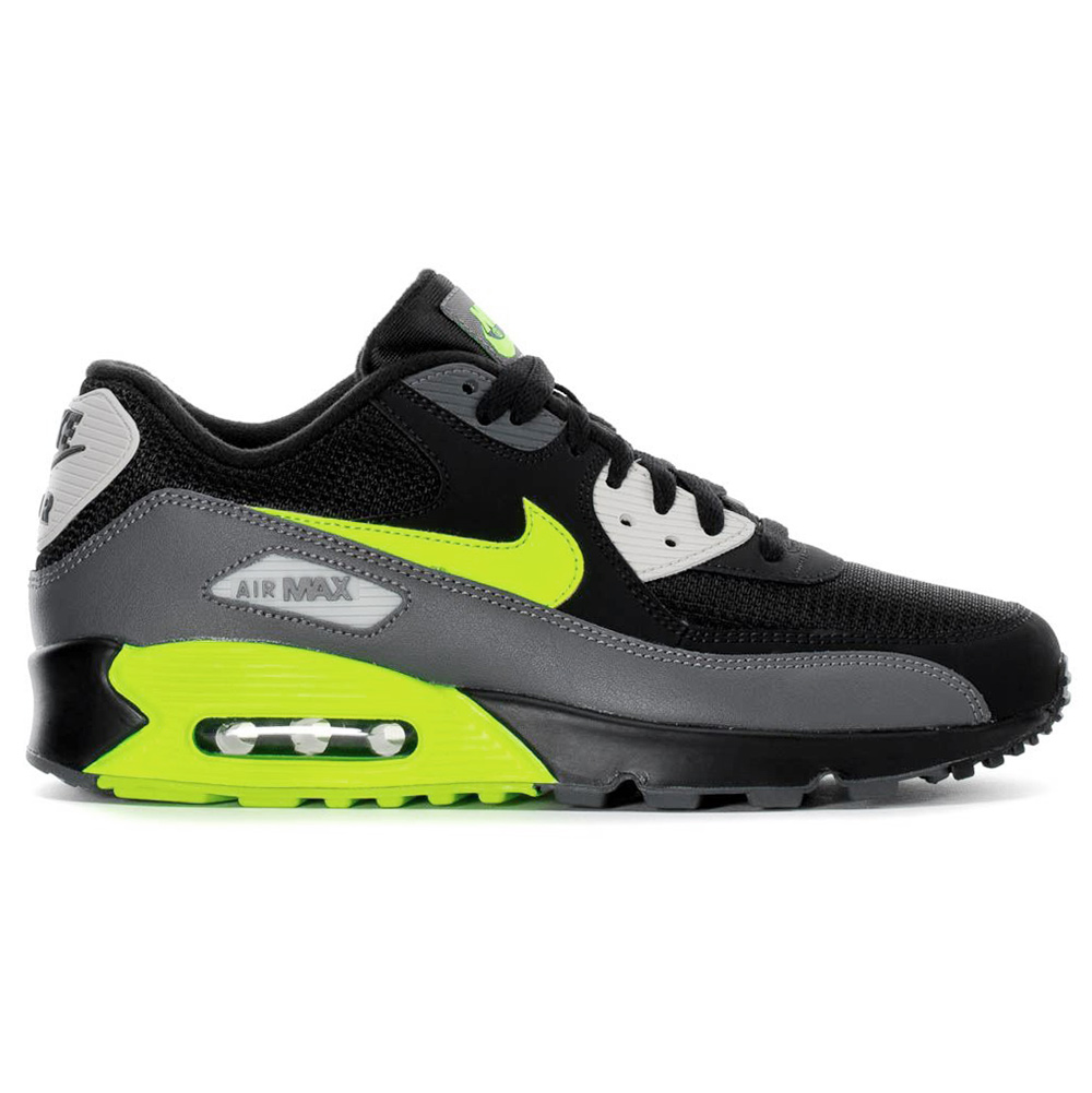 official photos 8fcb6 999de Nike Air Max 90 Essential Herren Sneaker schwarz grau neon A