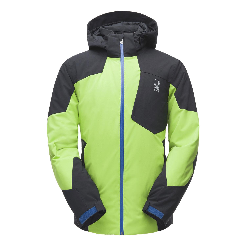 Spyder Chambers Jacket Herren Skijacke grün schwarz 181732 321