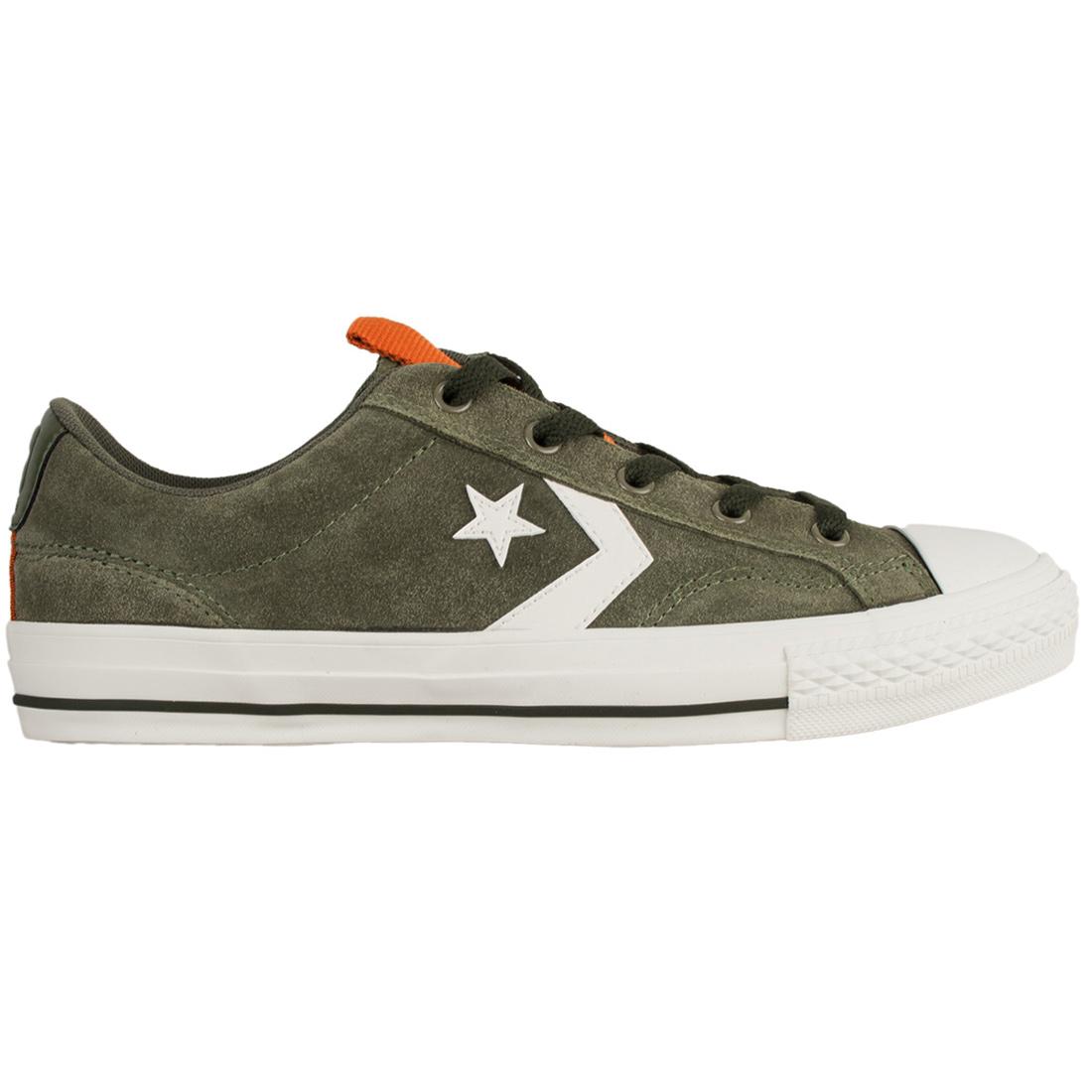 e29f581adbcdce Converse Star Player OX Herren Leder Sneaker grün weiß 162568C