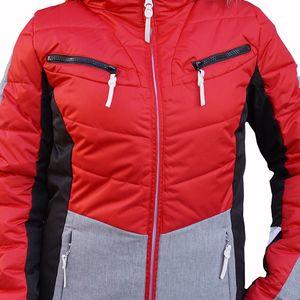 Icepeak Valda Damen Ski Winterjacke rot grau 2-53 297 512 XF 650 – Bild 2