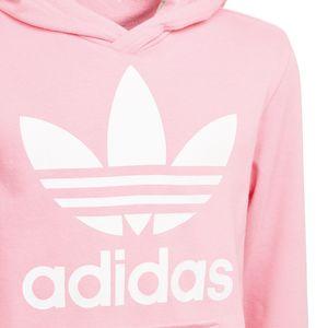 adidas Originals Junior Trefoil Hoodie Kinder rosa weiß DJ2167 – Bild 2