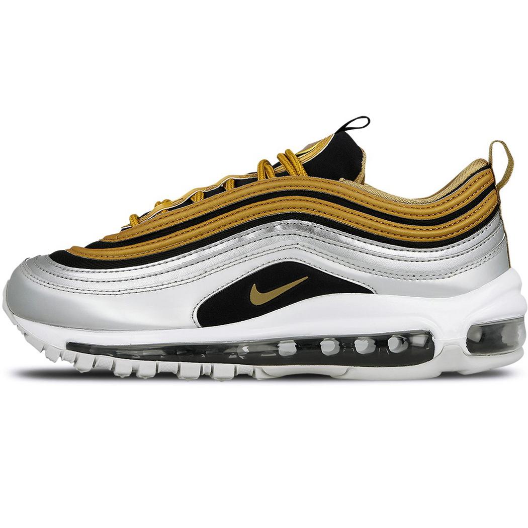 nike w air max 97 se damen sneaker schwarz silber gold. Black Bedroom Furniture Sets. Home Design Ideas