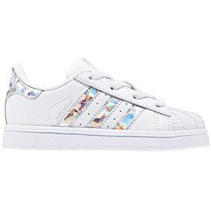 adidas Originals Superstar EL I Kinder Sneaker weiß silber CG6707