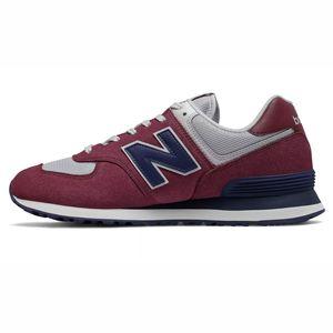 New Balance ML574ESW Herren Sneaker low weinrot hellgrau  – Bild 2