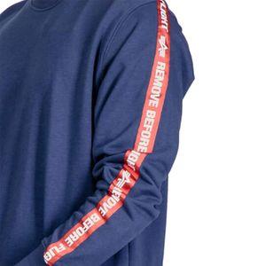 Alpha Industries RBF Tape Sweater Pullover blau 196304/435 – Bild 3