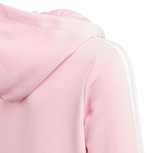 adidas Essentials Junior 3-Stripes FZ Hoodie Kinder rosa weiß DV0369 – Bild 5