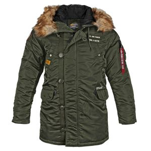Alpha Industries N3B Airborne Parka Herrenjacke dark green 188141/257 – Bild 2