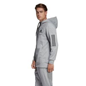 adidas Sport ID Fullzip Hoodie Herren DQ1466 grau schwarz – Bild 4