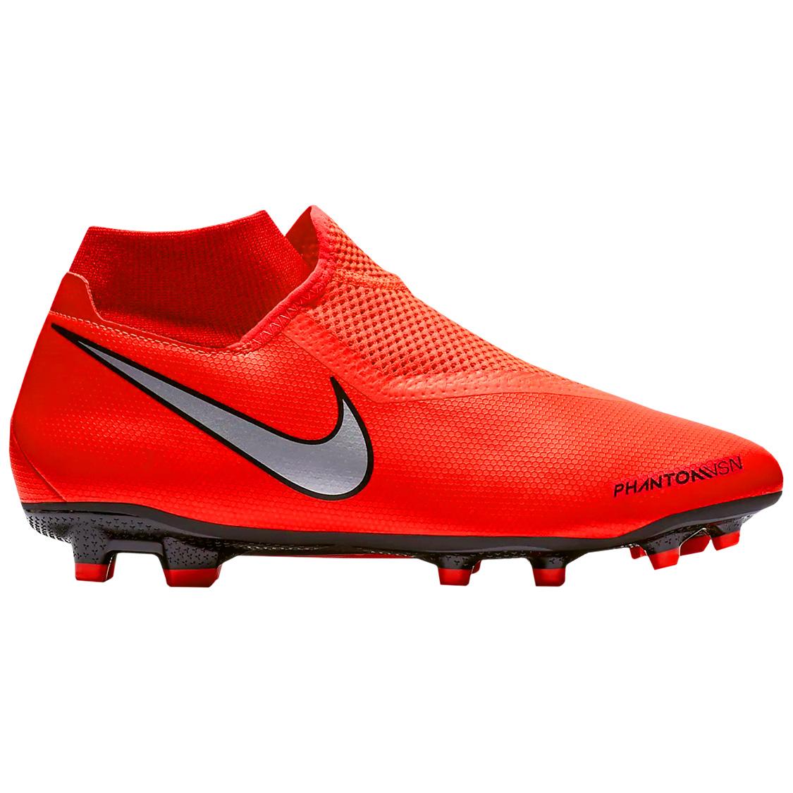 Nike Phantom Vsn Academy Df Fg Mg Fussballschuhe Neon Rot Ao3258 600