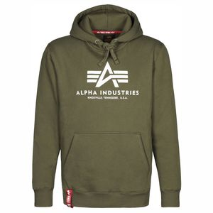 Alpha Industries Basic Hoody Herren Pullover Dark olive 178312/142