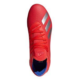 adidas X 18.3 FG J Kinder Fußballschuhe Nockenschuhe rot silber BB9371 – Bild 4