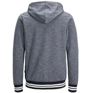 Jack & Jones Original Sweat Zip Hood grau blau 12148693  – Bild 2