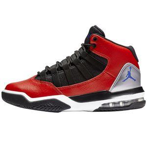Jordan Max Aura GS Sneaker schwarz rot silber – Bild 2