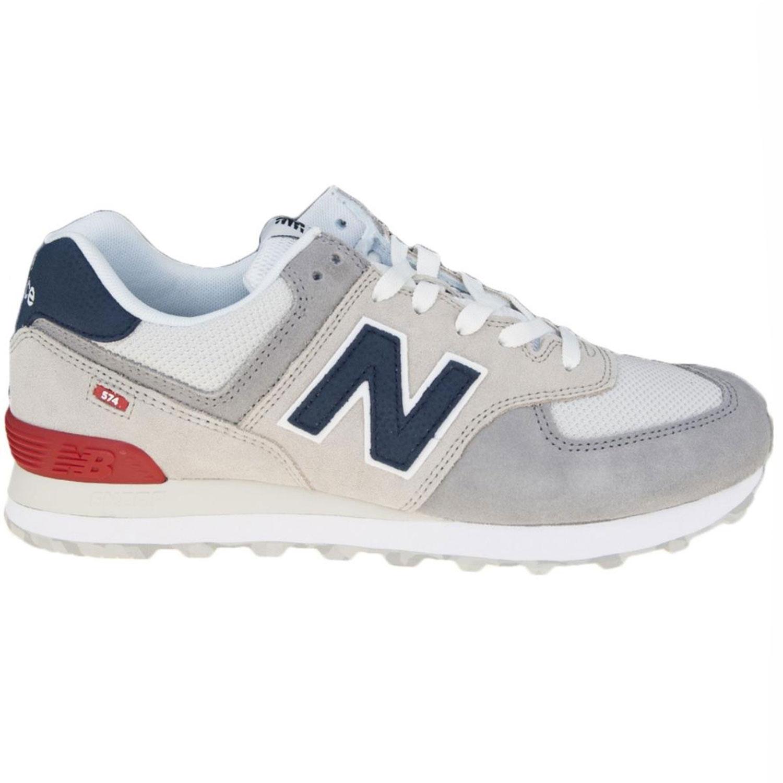 brand new 960e7 5b60d New Balance ML574UJD Herren Sneaker grau blau rot 698051-60 3
