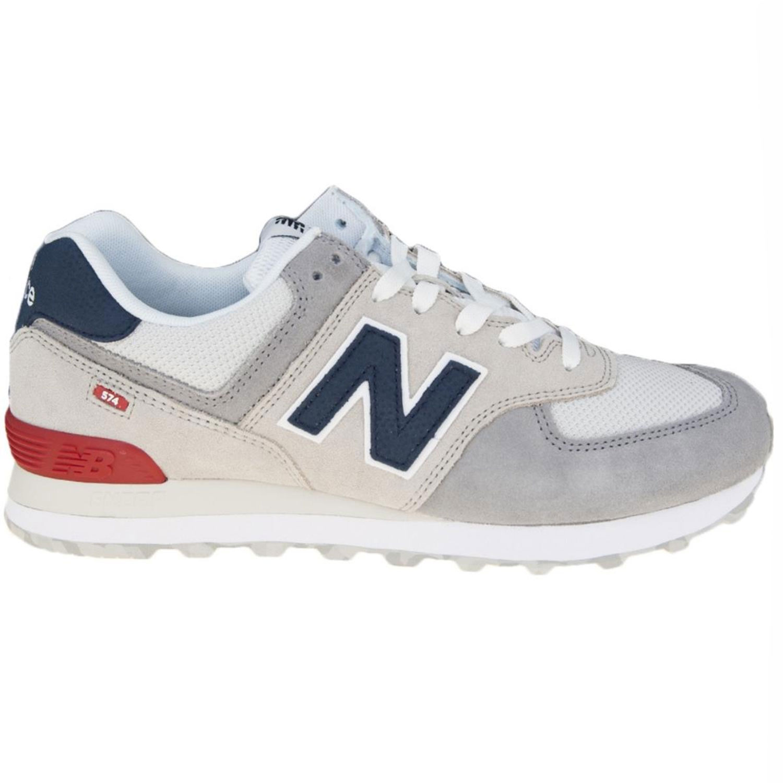 b633c84ad24d5a New Balance ML574UJD Herren Sneaker grau blau rot 698051-60 3