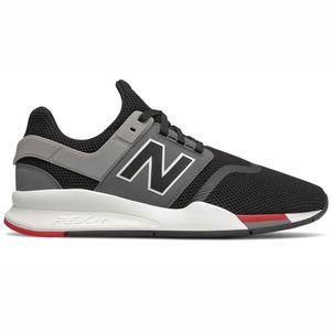 New Balance MS247FB Herren Sneaker flach schwarz grau rot