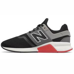 New Balance MS247FB Herren Sneaker flach schwarz grau rot – Bild 2