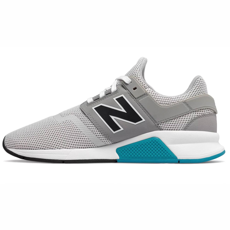 82aec89b37559f New Balance Herren MS247FC Sneaker grau weiß blau low – Bild 2