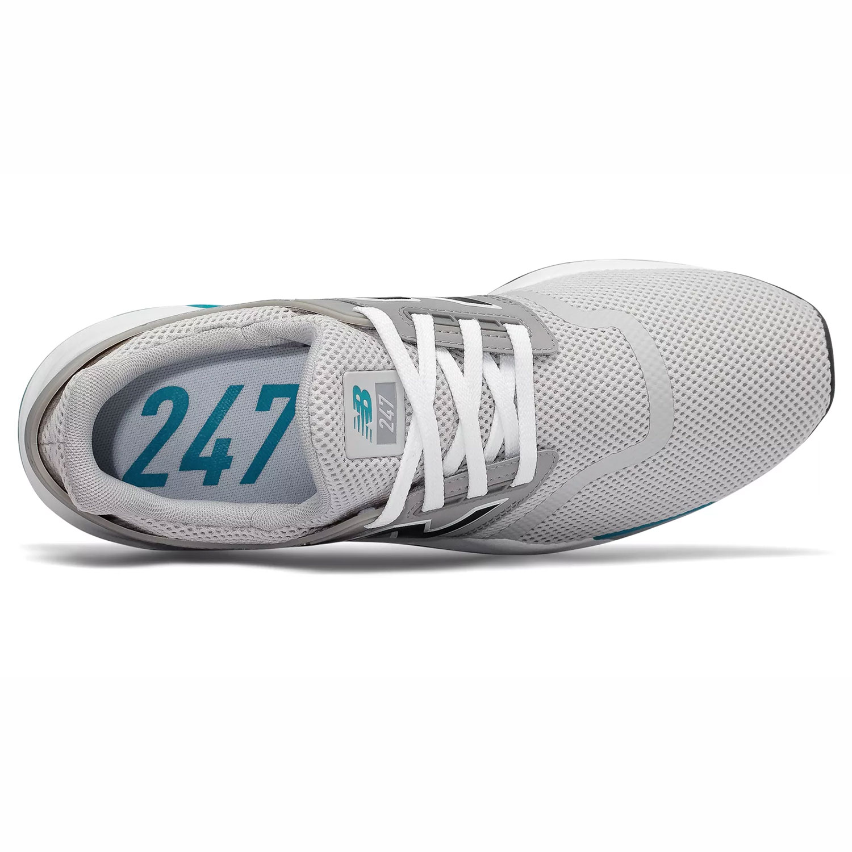3a0063e24b24e2 New Balance Herren MS247FC Sneaker grau weiß blau low – Bild 3