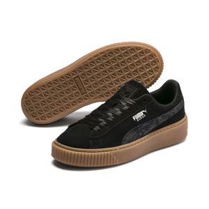 Puma Platform Galaxy Damen Sneaker schwarz braun Leder – Bild 3